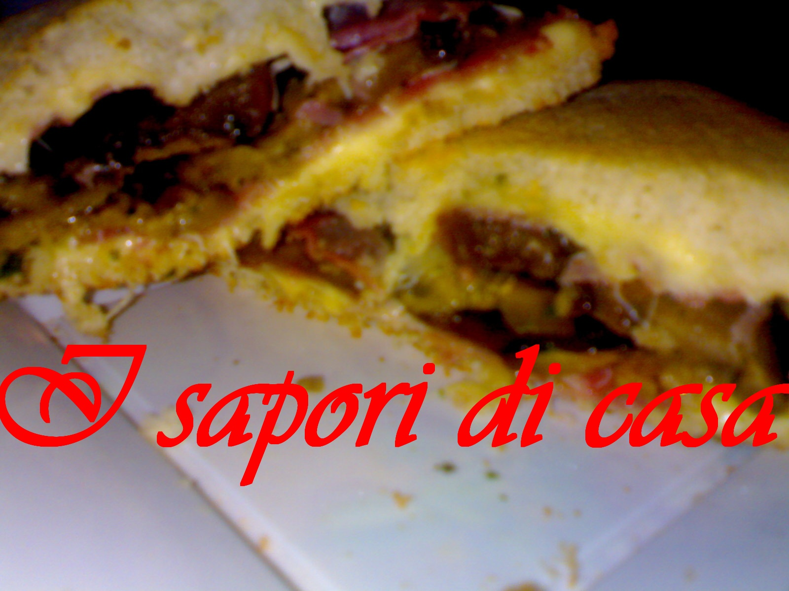 Big sandwich con melanzane e coppa