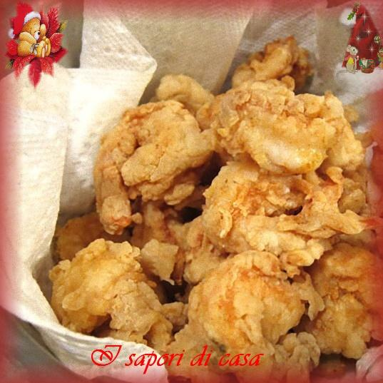 Gamberoni pastellati e fritti - ricetta di pesce