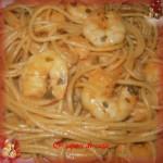 Spaghetti alle code di gambero e brandy
