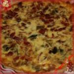Torta salata con prosciutto cotto brie e zucchine