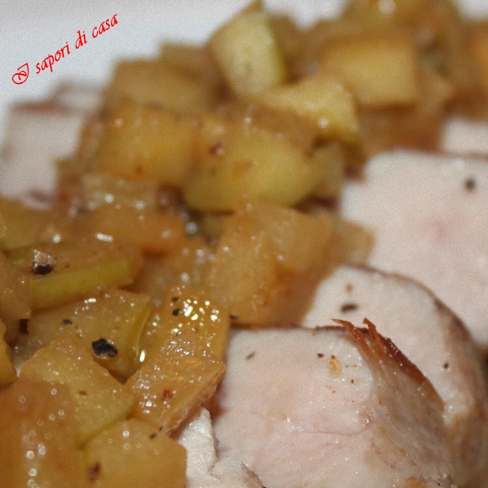 Lonza di maiale con mele Golden