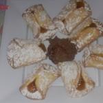 Bauletti all albicocca con mousse al cioccolato