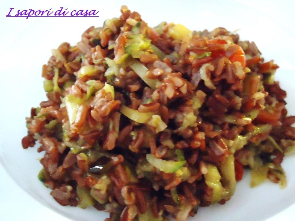 Conosciuto Riso rosso Thai con verdure saltate QF95