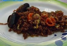 Riso rosso Thai ai frutti di mare