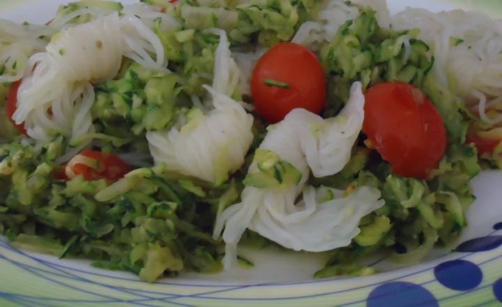 Noodles konjac alle verdurine