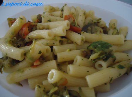Pasta all ortolana – zucchine melanzane pomodorini