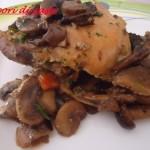 Pollo ai funghi trifolati