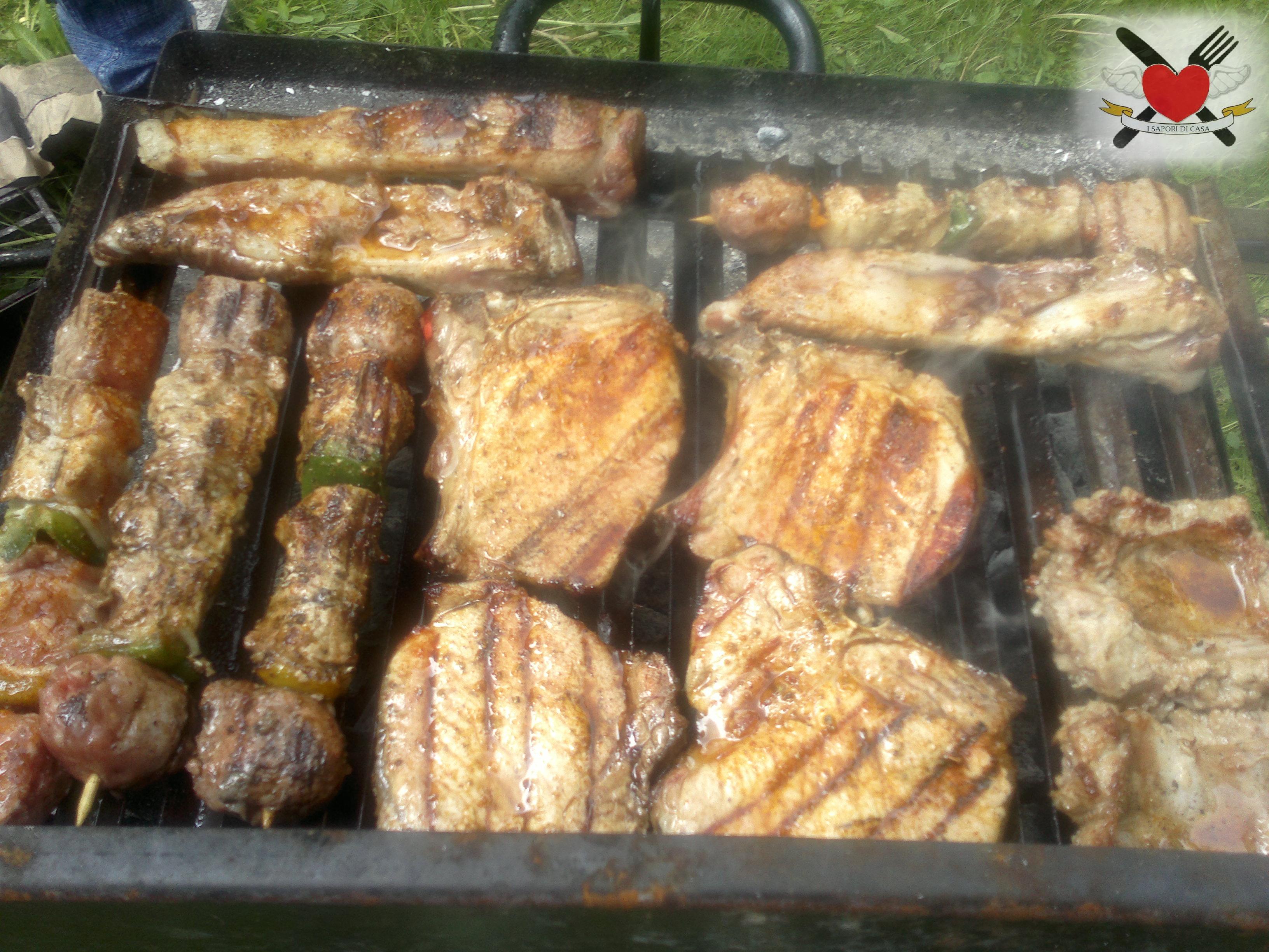 grigliata con marinata speziata