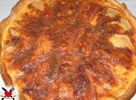 Torta salata al prosciutto cotto e taleggio