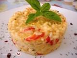 risotto ai peperoni con formaggio caprino