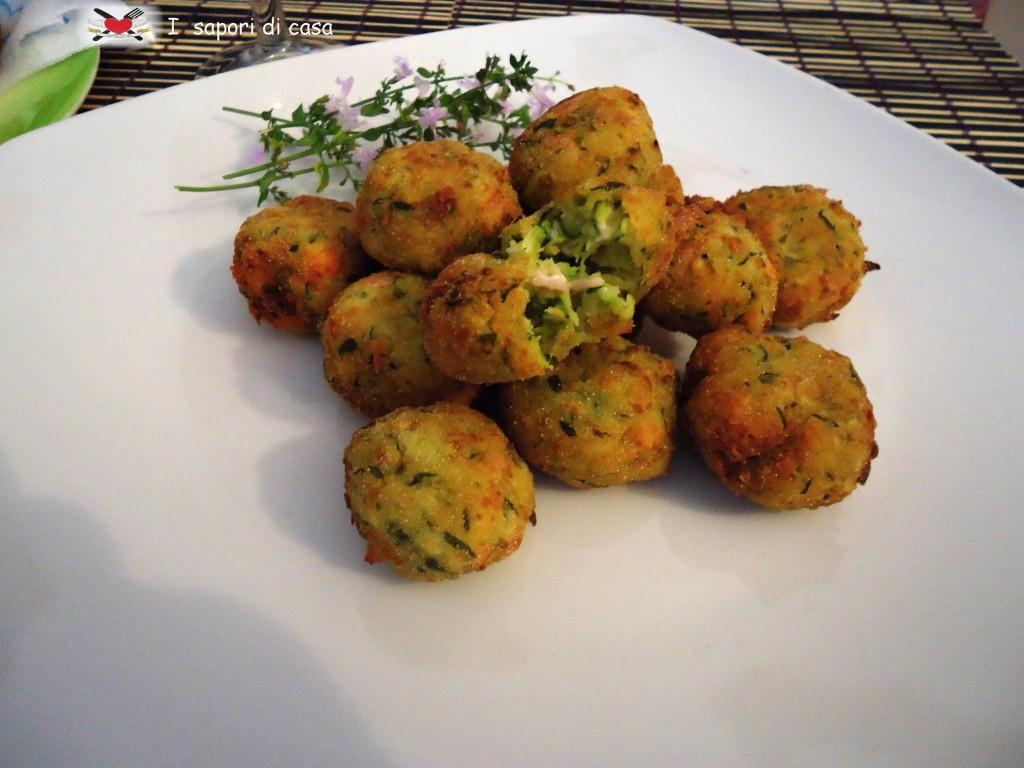 Crocchette di zucchine e prosciutto cotto