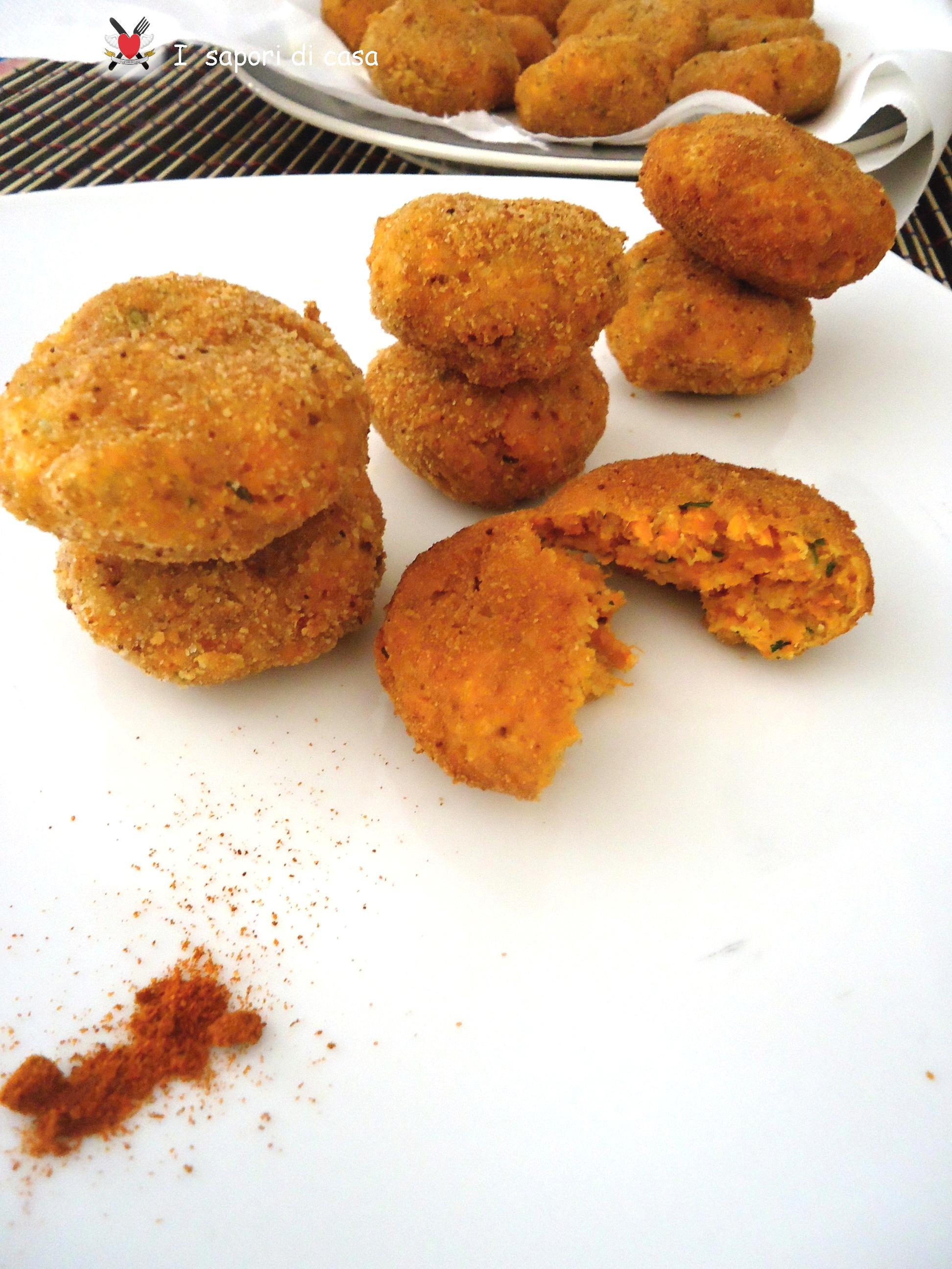 Crocchette di carote e parmigiano