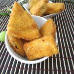 Triangoli di melanzane croccanti con panatura al parmigiano
