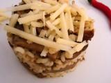 Orzotto con funghi trifolati e scaglie di parmigiano