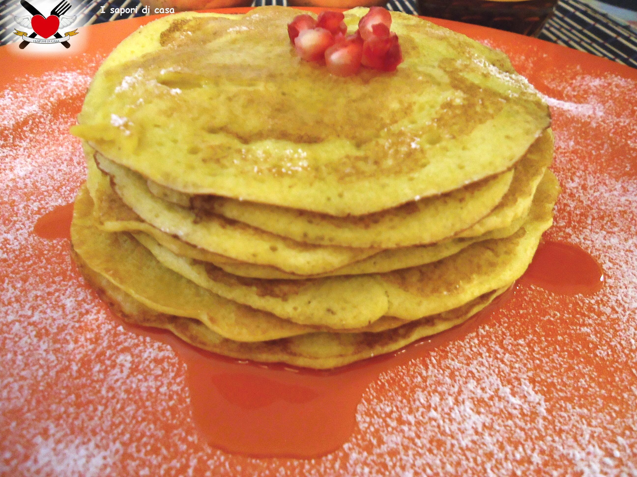 Pancakes con sciroppo d'acero – ricetta americana