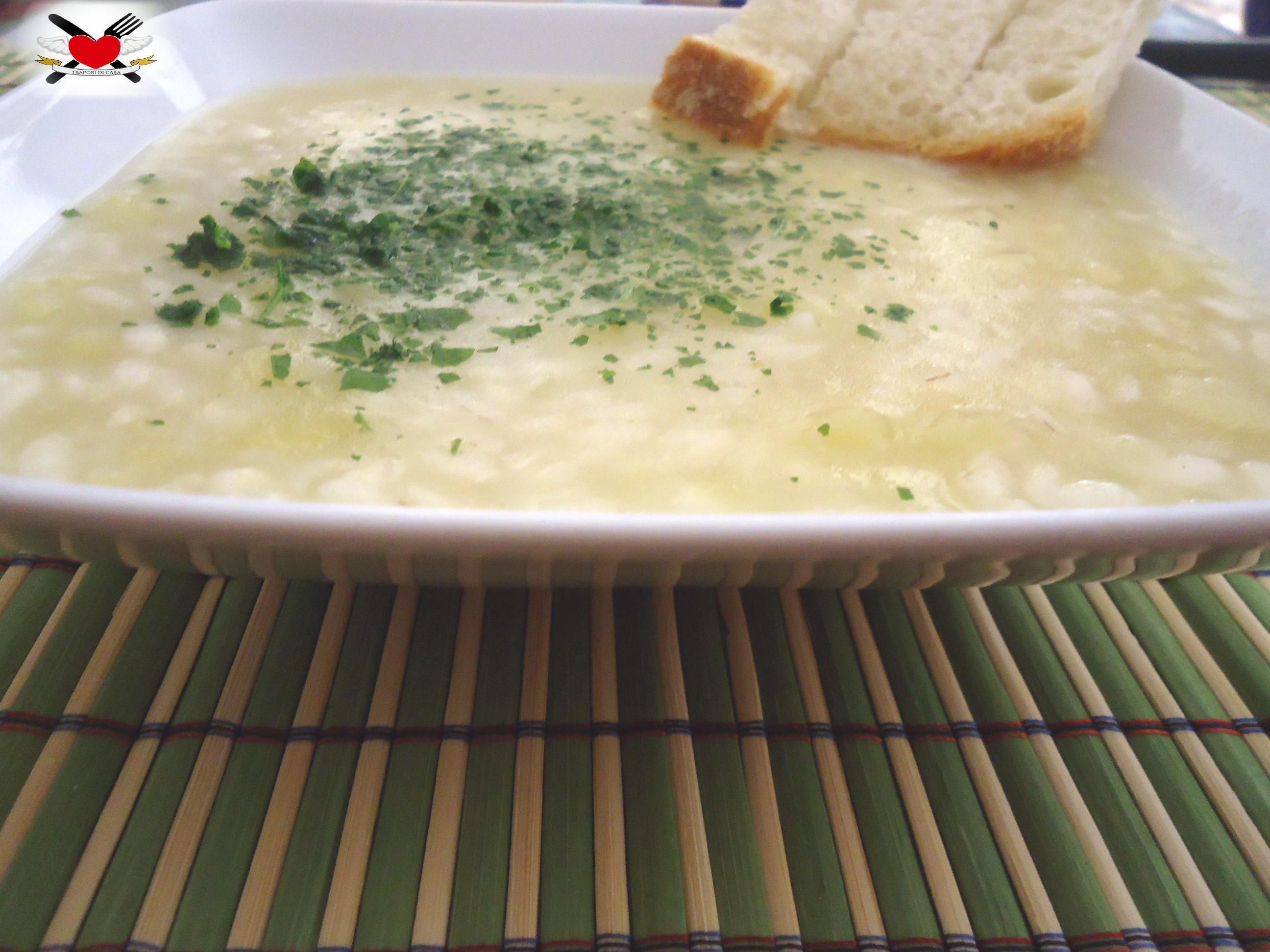 Crema di patate con riso vialone nano - ricetta economica..