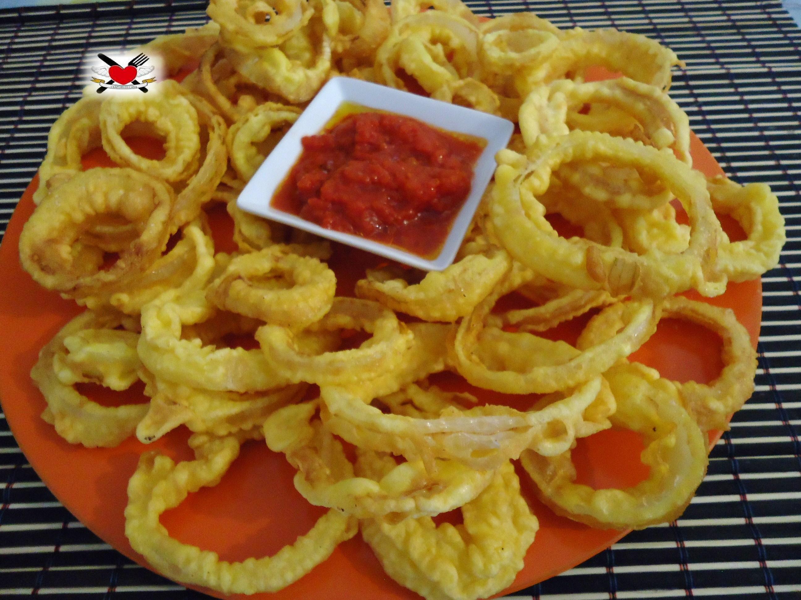 Onion rings - anelli di cipolla croccanti - ricetta america