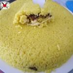 Tortino di riso ripieno ai funghi trifolati e formaggio filante