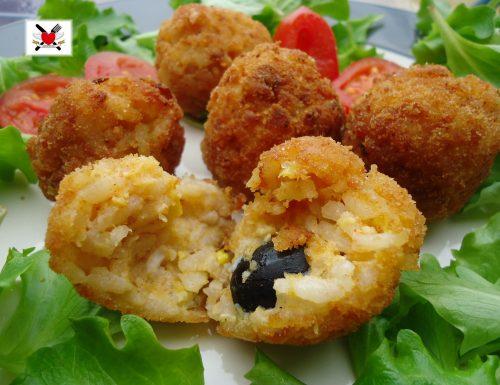 Polpette di riso primavera – ricetta finger food di riciclo