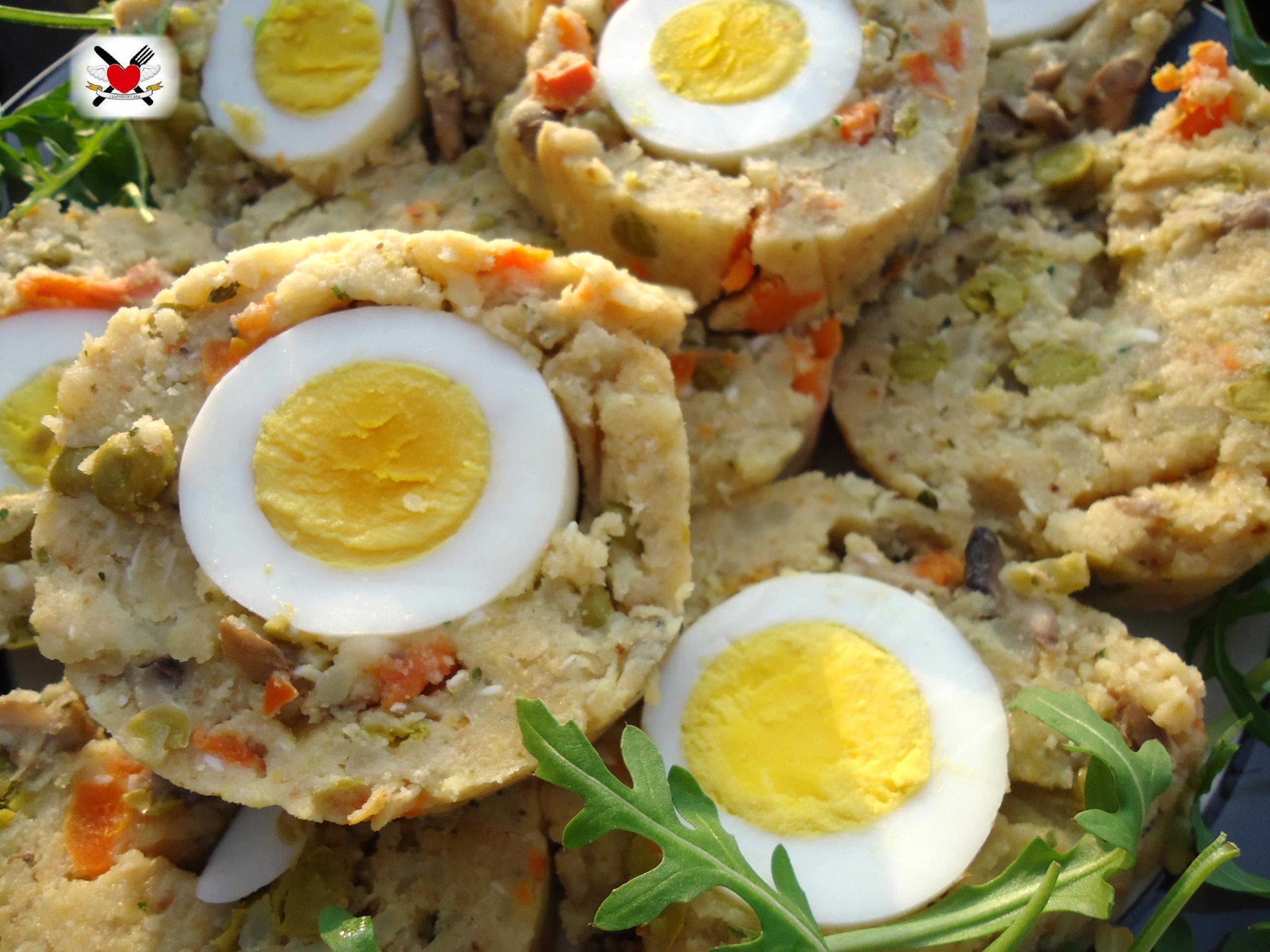Super di verdure al vapore con parmigiano e uova sode CT33