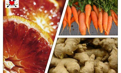 Centrifugato anticellulite carote arance zenzero