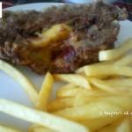 Polpettone di carne alla boscaiola-ripieno speck funghi e fontina
