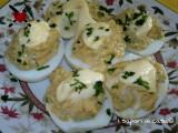 Uova sode ripiene con crema di tonno - antipasto veloce