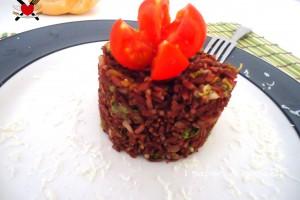 Riso rosso thai con julienne di carote e zucchine – ricetta light
