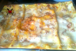 Lasagna al forno con ragù di carne