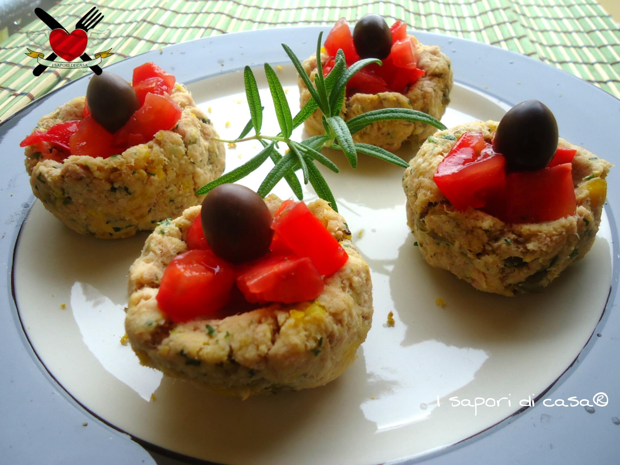 Cestini di mousse di tonno - antipasto veloce e gustoso