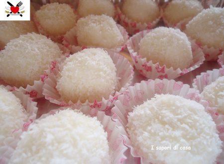 Palline cocco ricotta e limone – ricetta dolce senza cottura