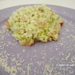 Risotto con zucchine speck e Asiago DOP stravecchio