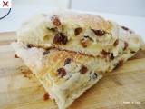 Treccia pan brioches con uvetta