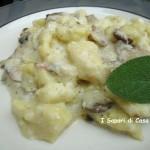 Gnocchetti di patate con funghi e crema di gorgonzola
