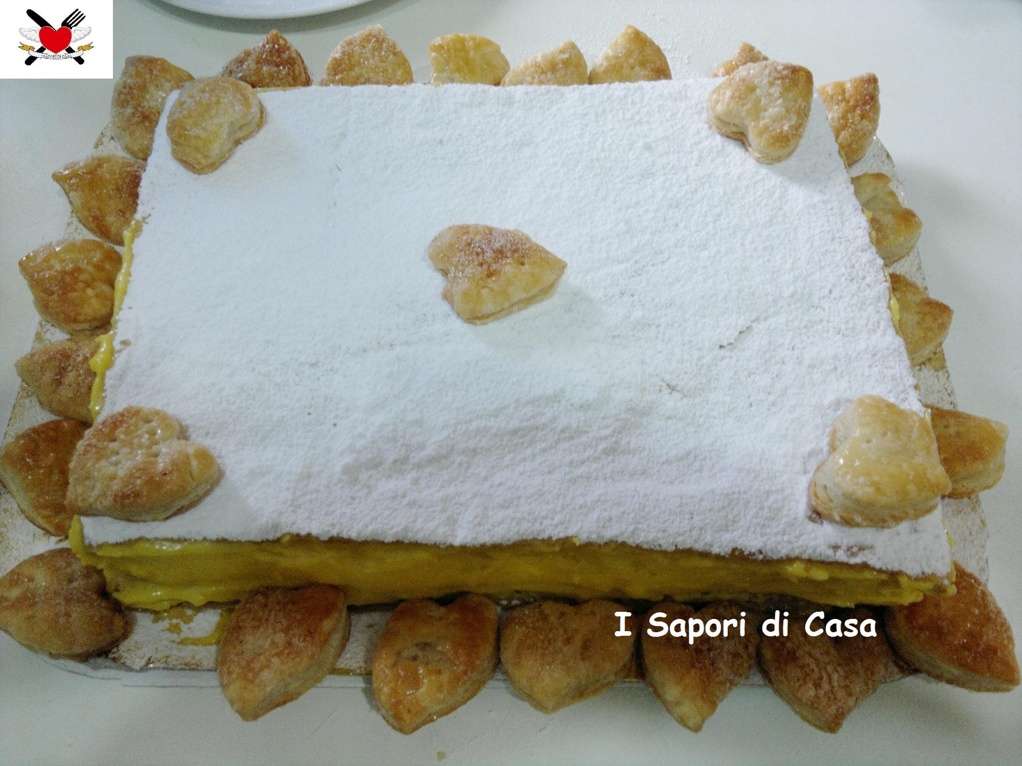 Torta Millefoglie con crema pasticcera