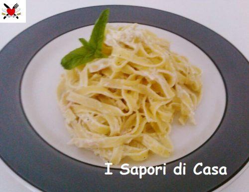 Lasagnette panna e salmone