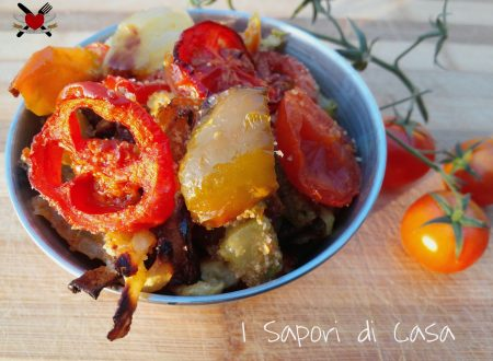 Misto di verdure al forno con parmigiano