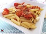Pasta con pomodori gratinati al forno