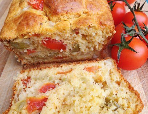 Plumcake pomodorini mozzarella e olive