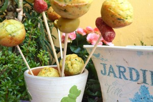 Cake pops salati zucchine e parmigiano