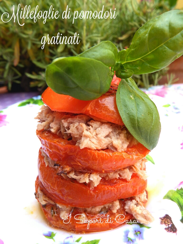Millefoglie di pomodori gratinati