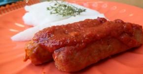 Salsicce di pollo al sugo
