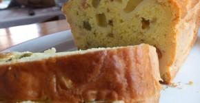 Plumcake salato olive prosciutto cotto e fontina