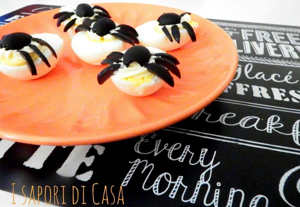 Spooky Spider Delived Eggs - ricette per Halloween