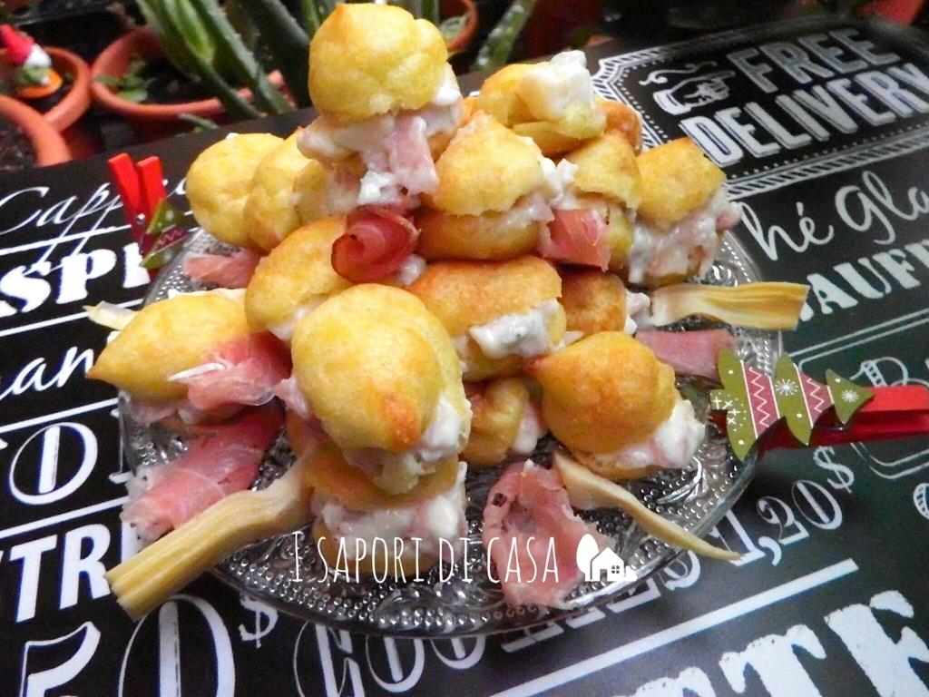 Profiteroles salati