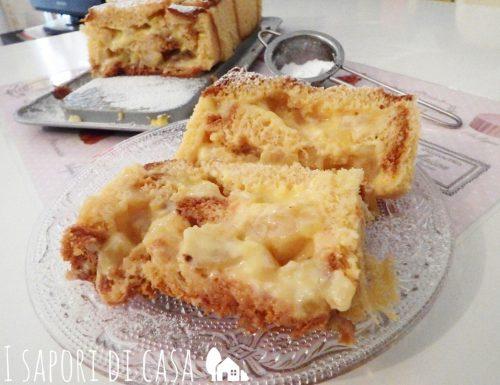 Torta pandoro con crema e ananas