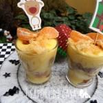 Bicchierini di pandoro e crema