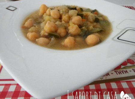 Zuppa di ceci e zucchine