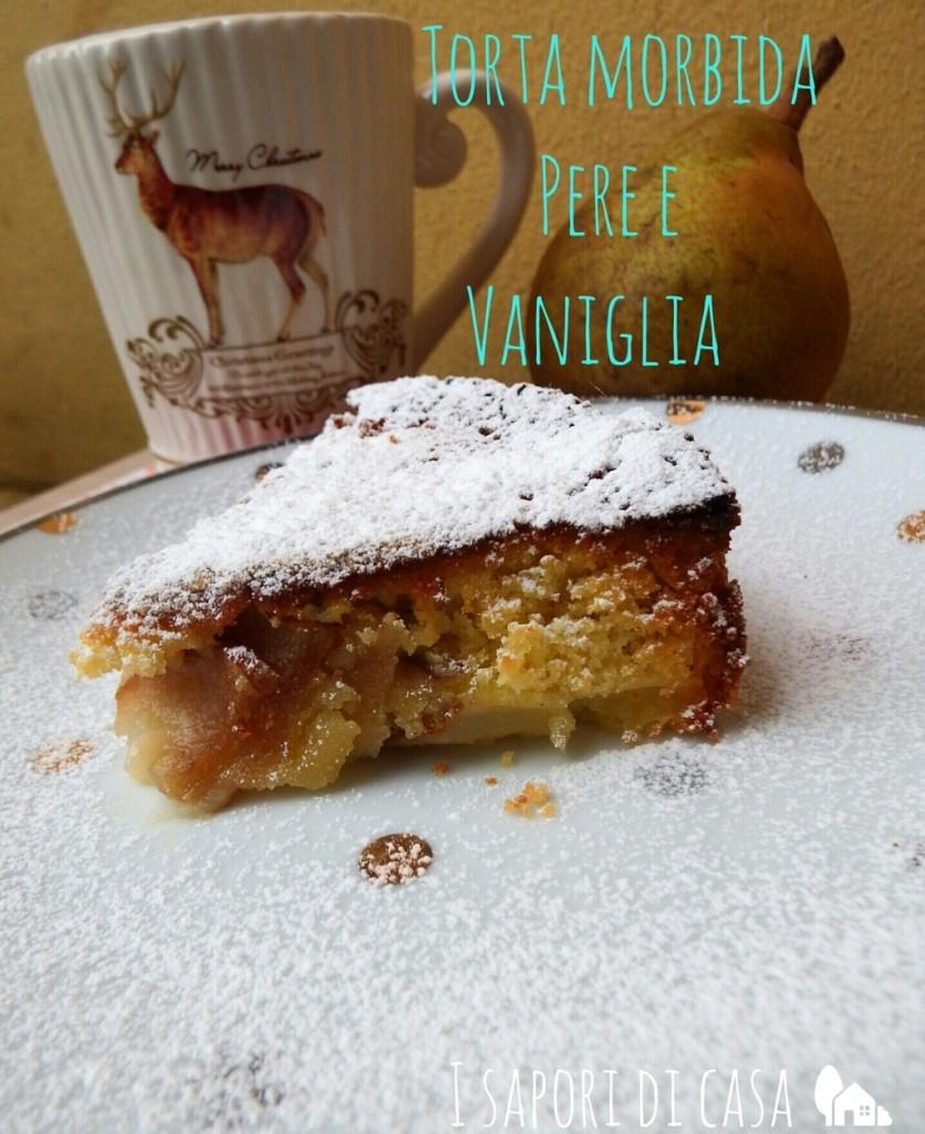 Torta morbida pere e vaniglia – ricetta vegana e originale