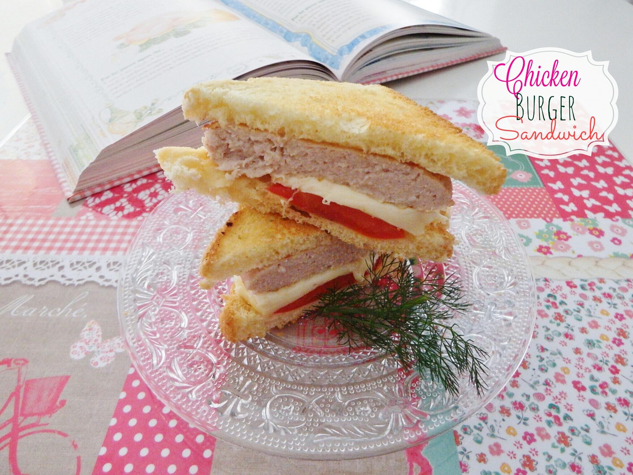Chicken burger sandwich